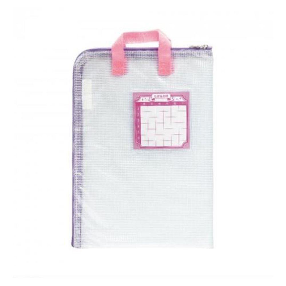 日本 SONIC - 方便收納聯絡袋-粉紅