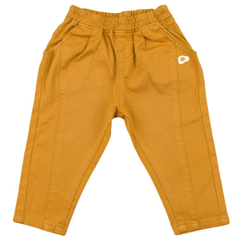 akachan honpo - 平織長褲-荷包蛋-芥末黃色