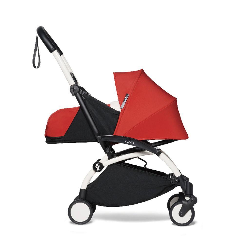 法國BABYZEN - YOYO² 嬰兒手推車0+-白管-紅-0m+