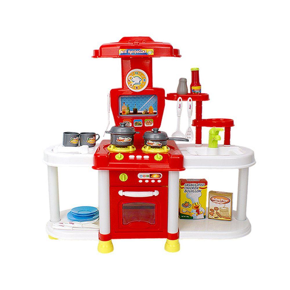 酷比樂 - 【家家酒玩具】聲光廚具組 紅色 689