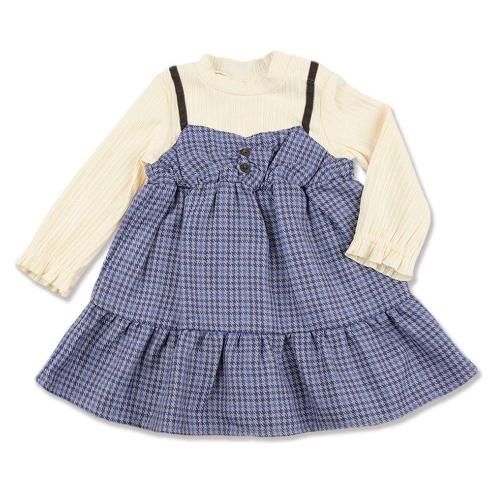 akachan honpo - 假兩件洋裝-米白色