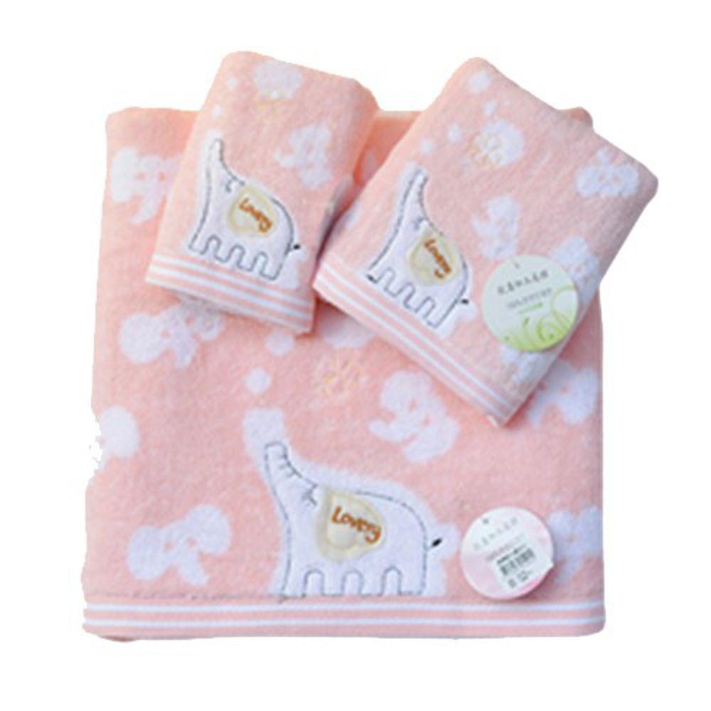貝柔 Peilou - 無捻紗大象柔棉浴巾-粉紅 (140x70cm)
