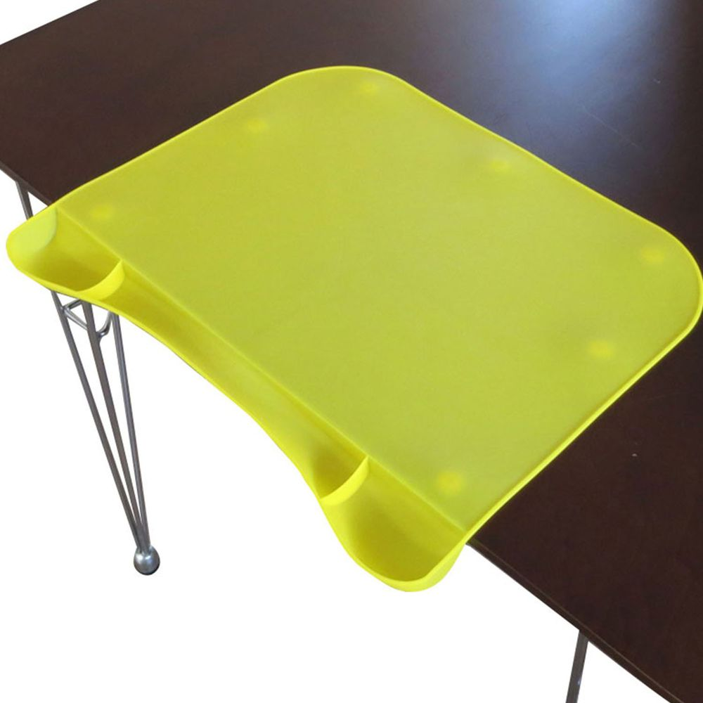 akachan honpo - 學習餐墊-有大口袋-黃色