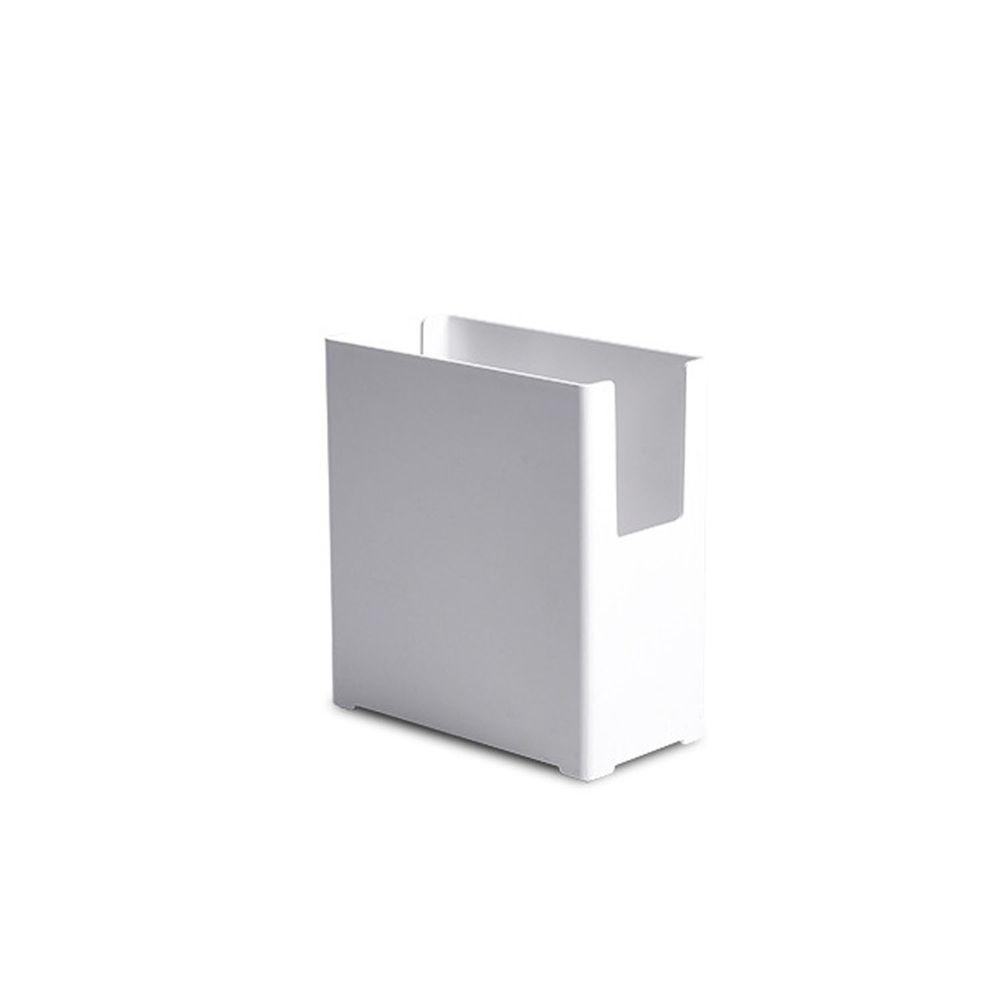 凹型多功能可堆疊收納盒-窄版小號 (14x7x15cm)-附卡扣便籤