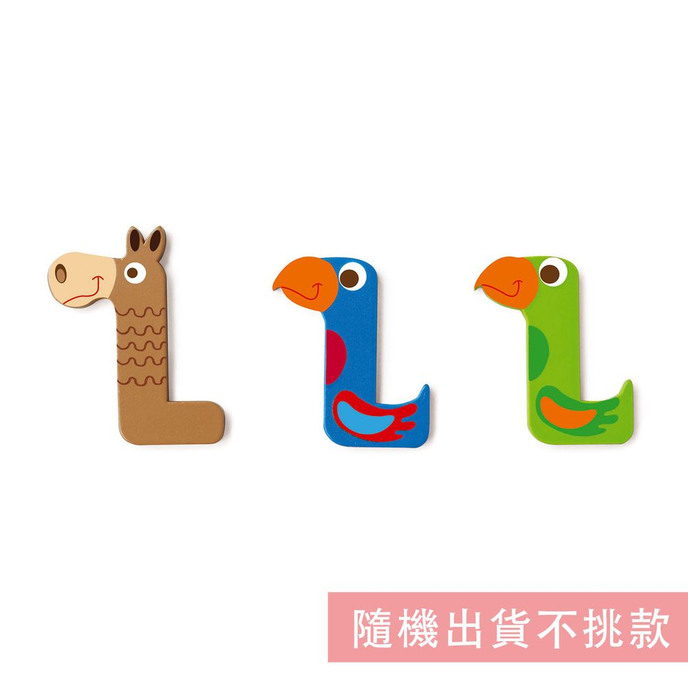 比利時 Scratch - 動物造型字母L-隨機出貨不挑款