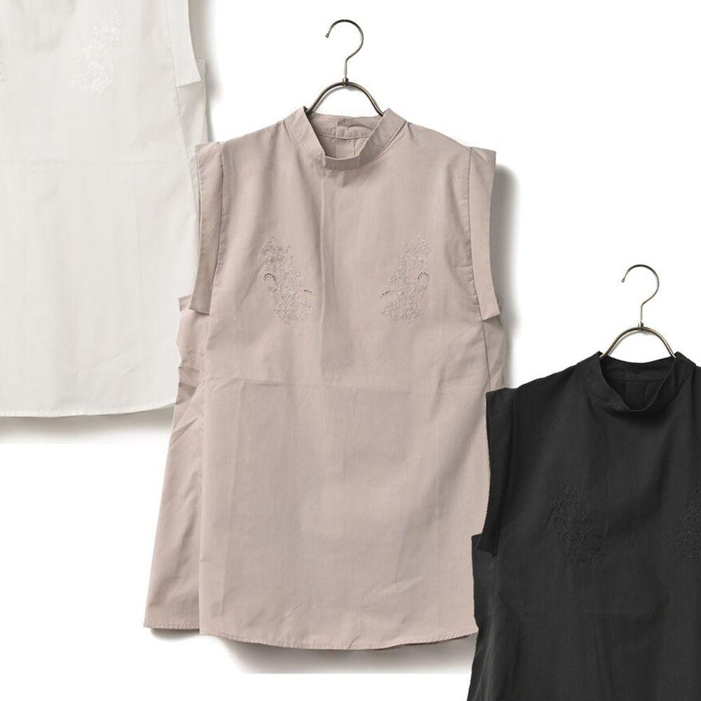 日本 ELENCARE DUE - 顯瘦剪裁無袖上衣-杏