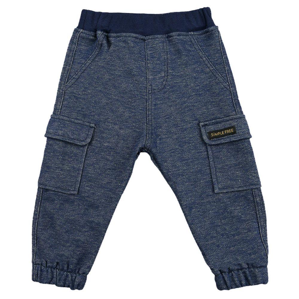 akachan honpo - 10分工作褲-深藍色