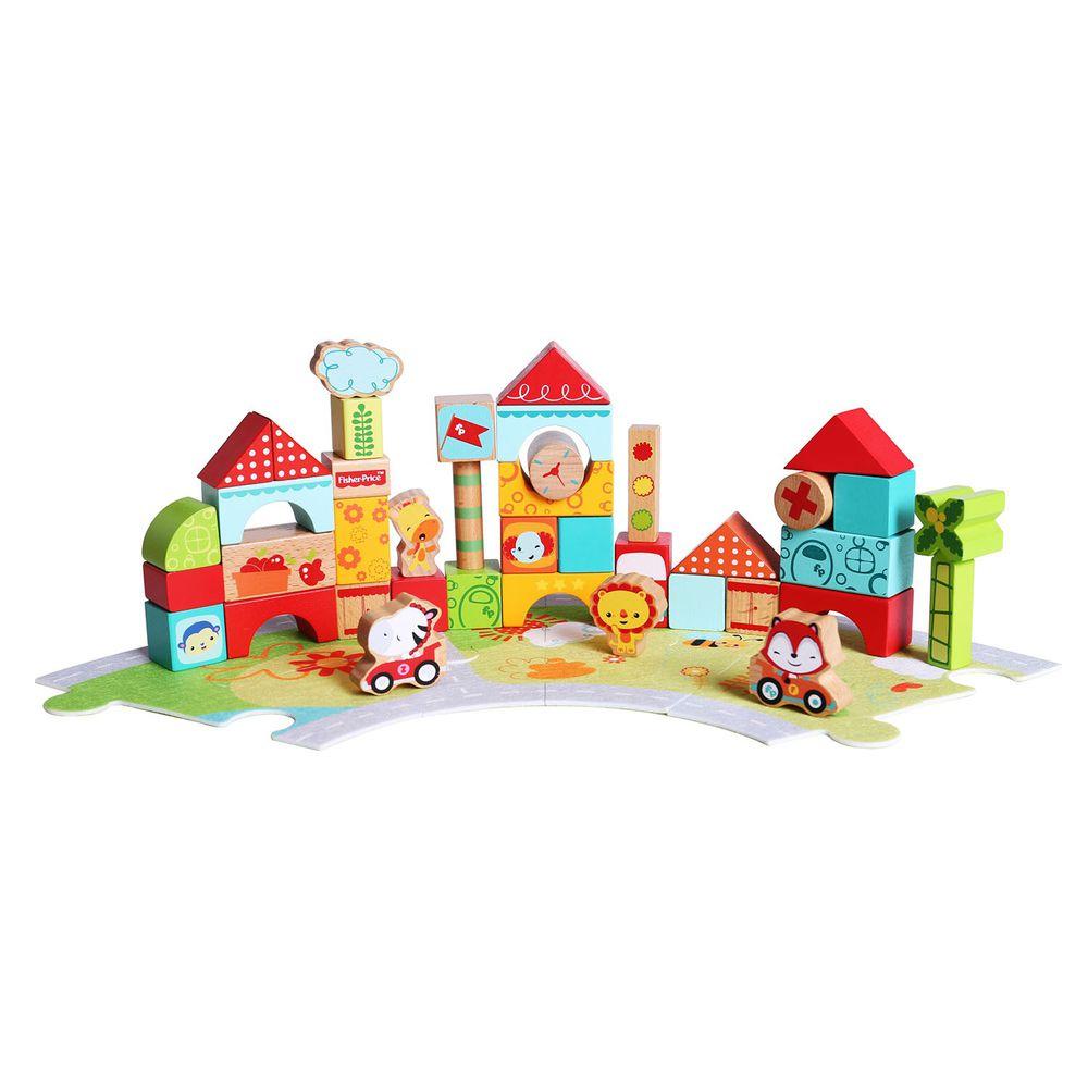 美國Fisher-Price 費雪 - 費雪三合一積木-綠色家園