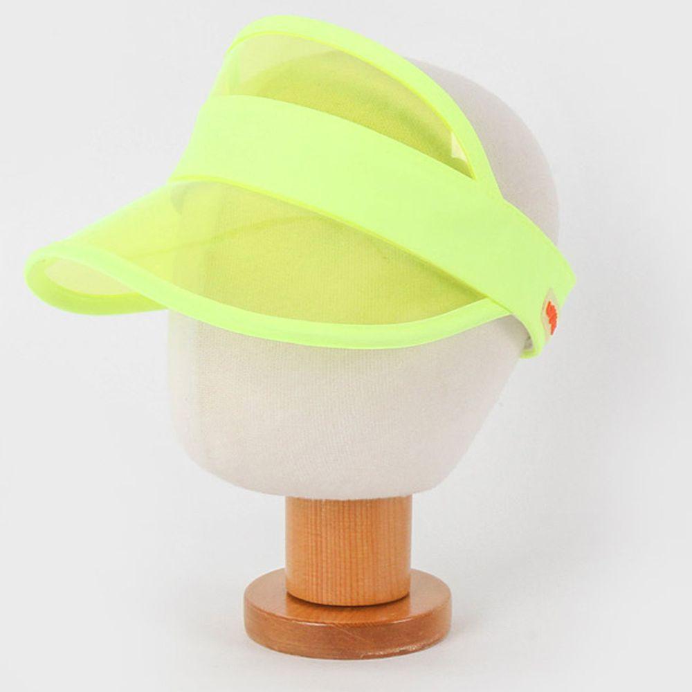 韓國 Babyblee - 抗UV遮陽板鴨舌帽-螢光黃 (頭圍:46-54cm)