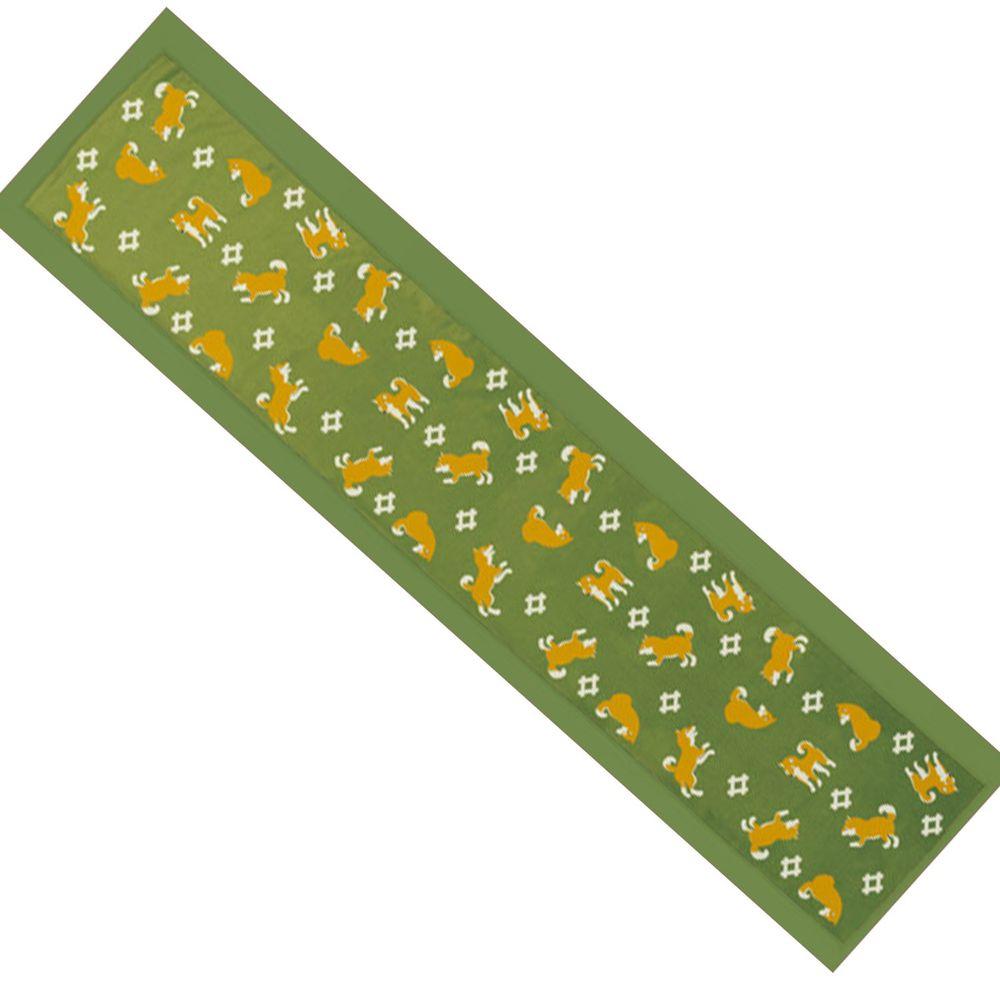 日本丸和 - 和柄小江戶水涼感巾(附收納袋)-柴犬-綠 (20x100cm)