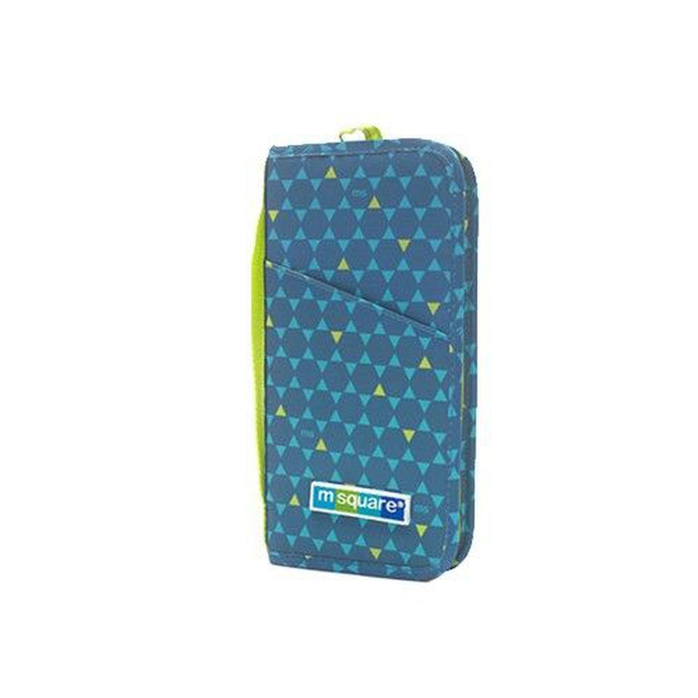 m square - 商旅系列Ⅱ-護照夾-藍色六角紋