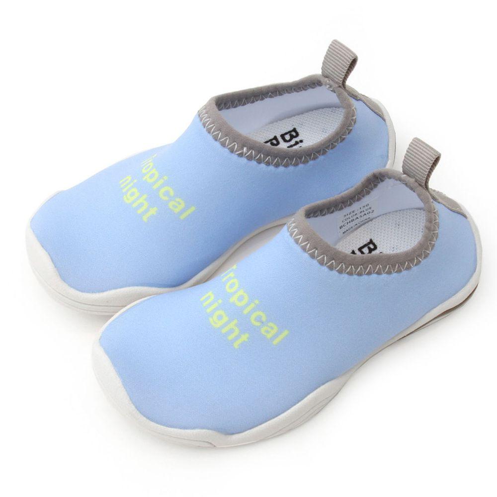 韓國 Bimbo Bimba - 加厚底防滑機能沙灘鞋/溯溪鞋-清新水藍