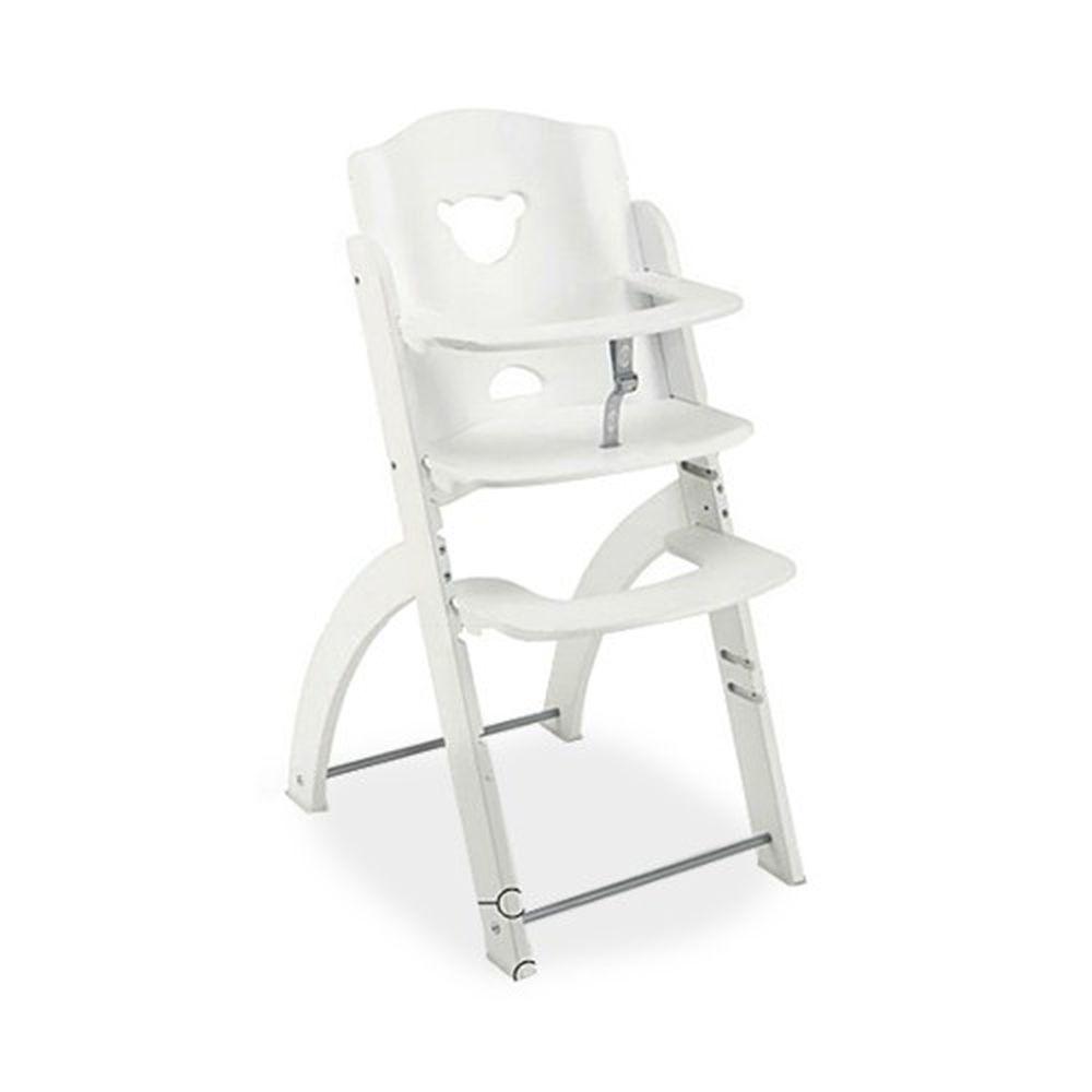 義大利 Pali - Pappy Re 熊寶寶成長餐椅-白色-單椅
