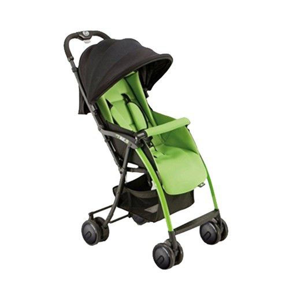 義大利 Pali - TRE.9 超輕量秒收可折疊站立嬰幼兒手推車-綠色-3.9kg