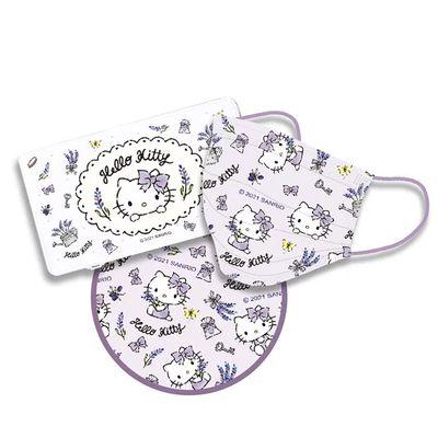 三麗鷗系列Hello Kitty-成人平面防護防塵口罩+隨身口罩收納盒