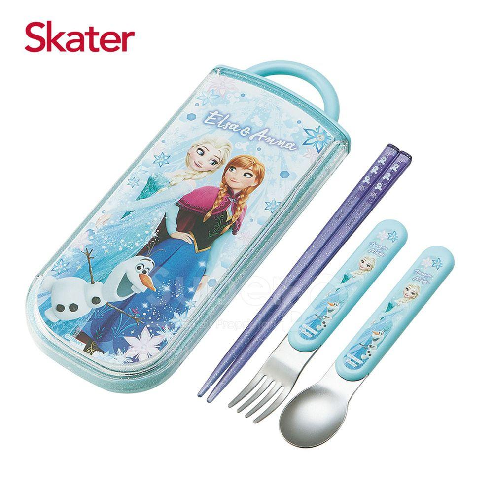 日本 SKATER - 三件式餐具組-冰雪奇緣