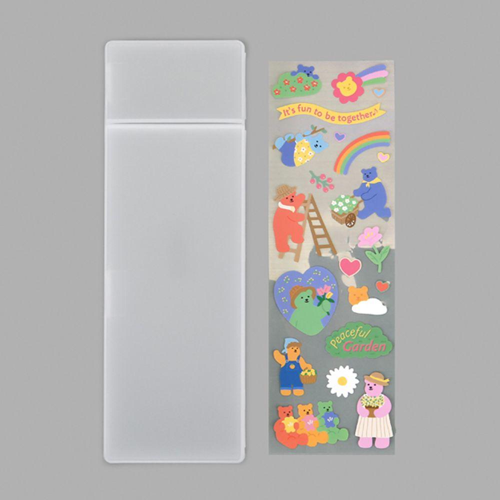 韓國 Daily Like - DIY透明鉛筆盒-花園 (70 x 210 x 23 mm)
