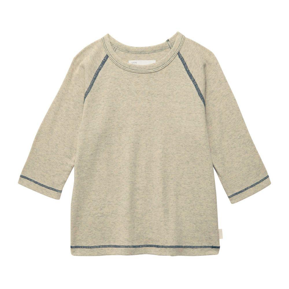 日本千趣會 - GITA 純棉輕薄舒適七分袖T-素面-燕麥