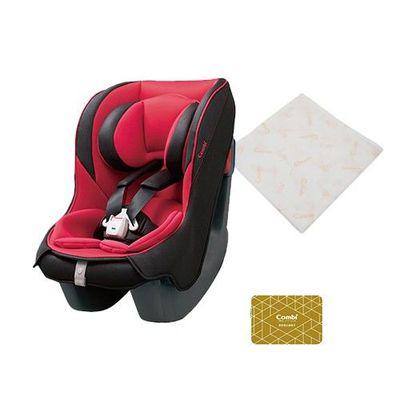 Coccoro II EG 超輕巧舒適 嬰幼童專用汽車安全座椅-買贈雙重紗布多用途浴包巾(市價值NT$650)-薔薇紅-新生兒0歲起~4歲(18kg以下)