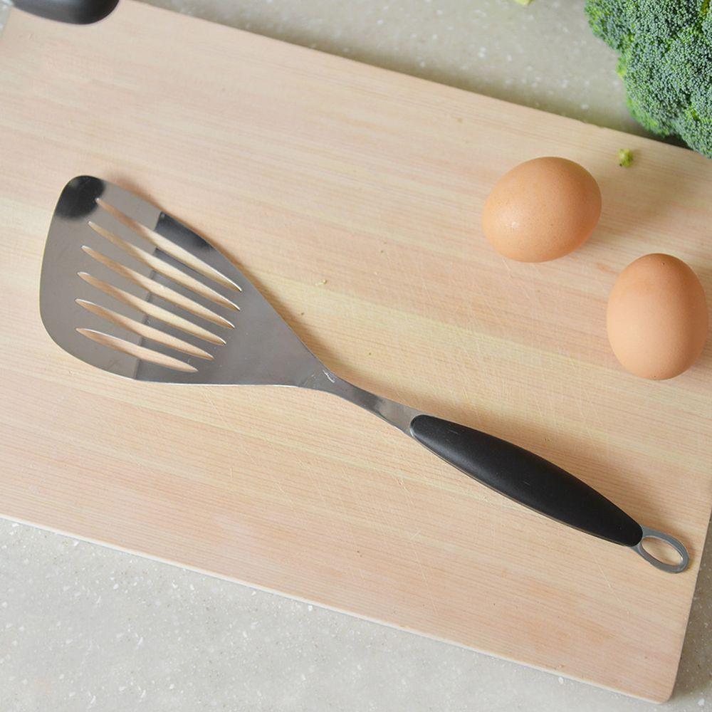 Softia - 防燙手不鏽鋼煎匙-黑色