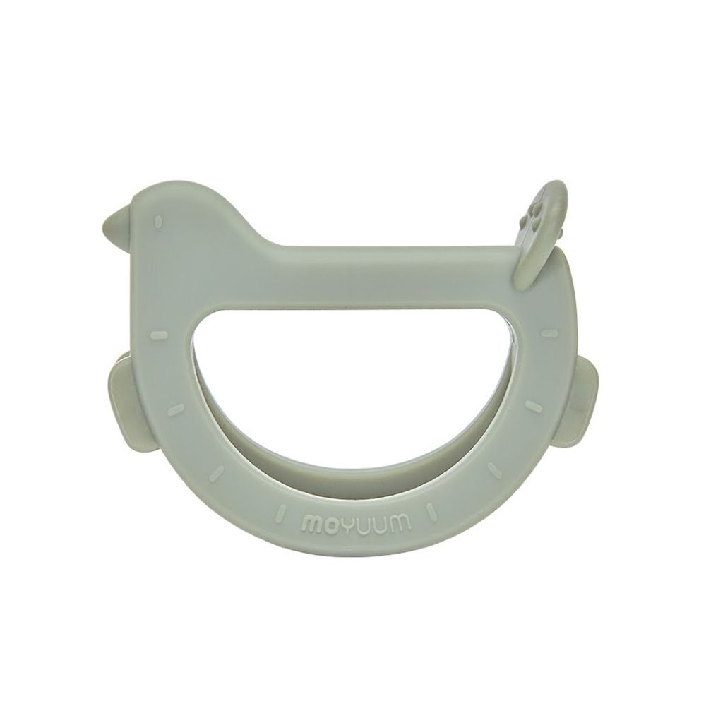 韓國 Moyuum - 白金矽膠手環固齒器-咘咕鳥-橄欖綠