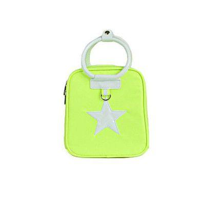 星星保溫保冷兒童包-螢光綠