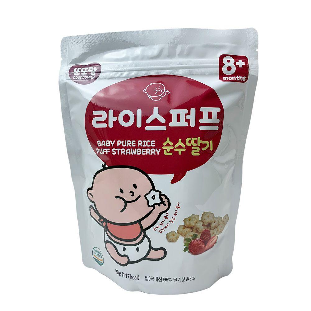 韓爸田園日記 - 星繽樂米星星-草莓優格口味(8個月以上)-1包/30公克