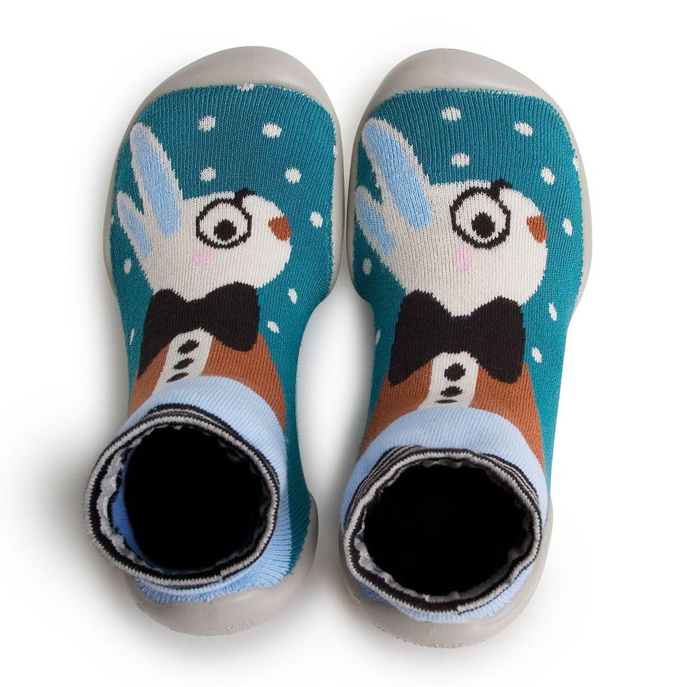 法國 collegien - 法國手工室內鞋-白兔寶寶 [大人款]