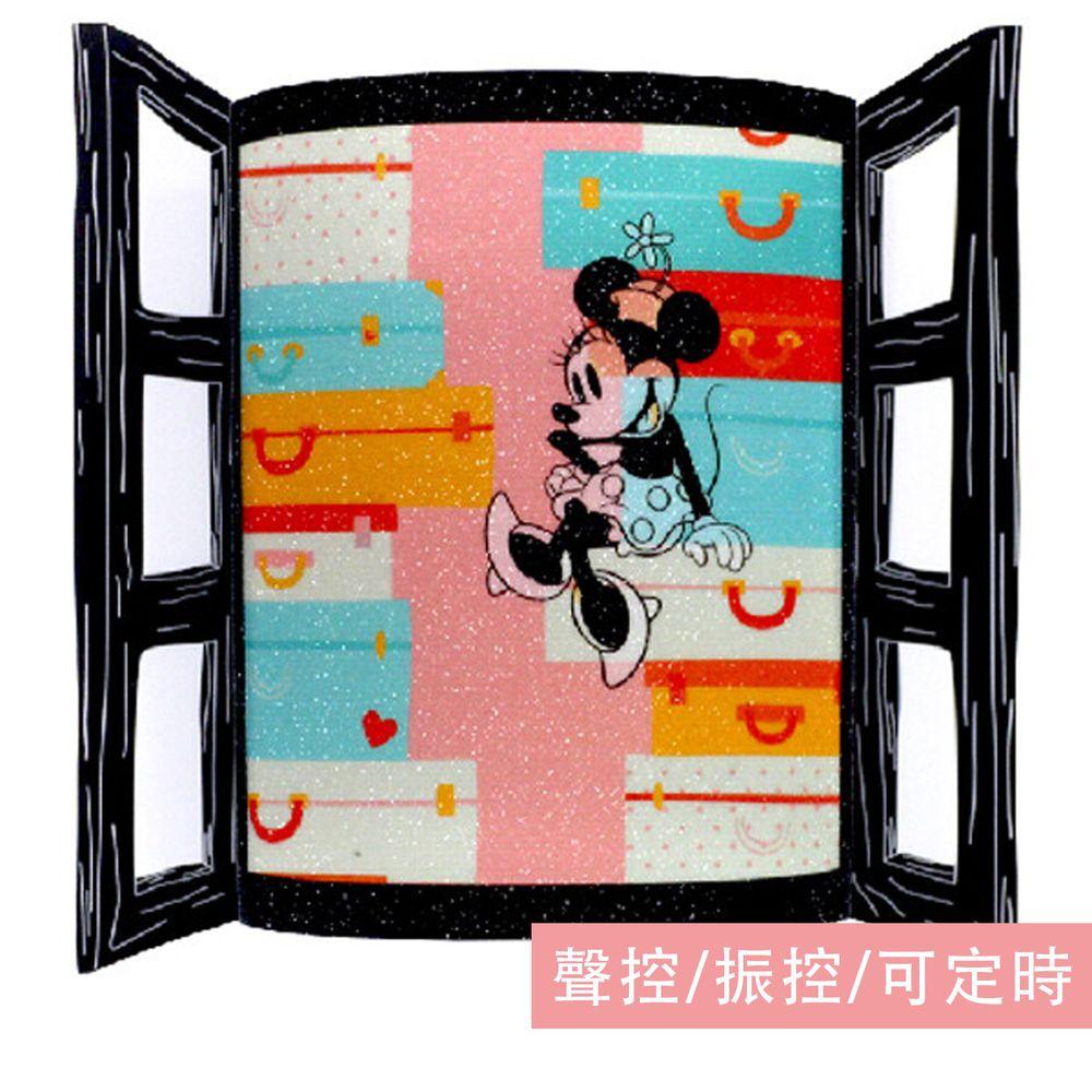 日本 TOYO CASE - LED 夜燈壁飾-迪士尼窗戶系列-米妮 (約8x3x11cm)