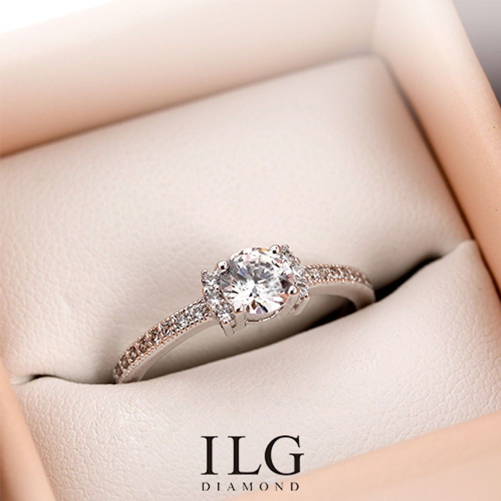 美國ILG鑽飾 - 0.5克拉 The One-鑽飾第一品牌 唯一永久保固鑽體的名譽商家【Ri156】-加贈高級珠寶級絨布盒1個-外國抗敏材質電鍍頂級白K金色