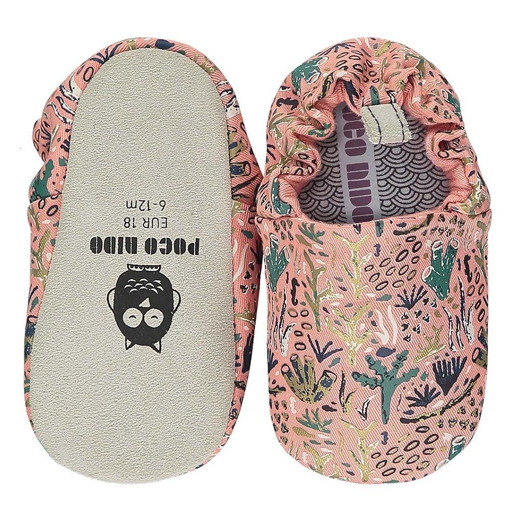 英國 POCO NIDO - 寶寶手工鞋/學步鞋-浪漫珊瑚礁-優雅粉