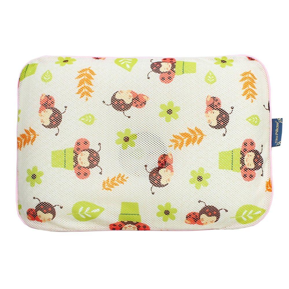 韓國 GIO Pillow - 超透氣防螨兒童枕頭-單枕套組-淘氣瓢蟲 (L號)-2歲以上適用