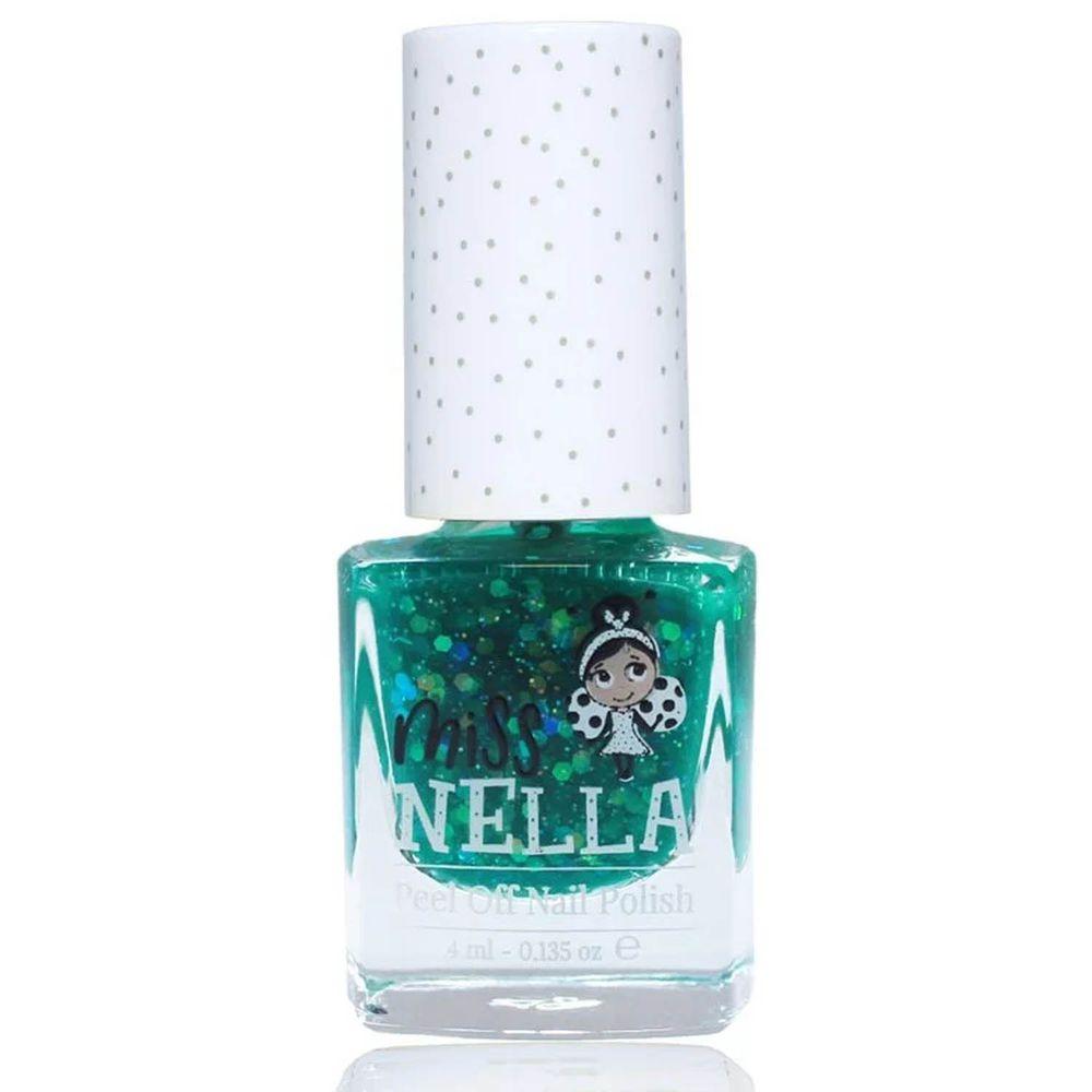 Miss NELLA妮娜小姐 - <2020新版>Miss NELLA 兒童水性可撕式安全指甲油-亮片春遊深綠MN23-4ml