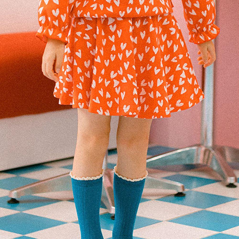 韓國 OZKIZ - 滿版愛心針織小短裙