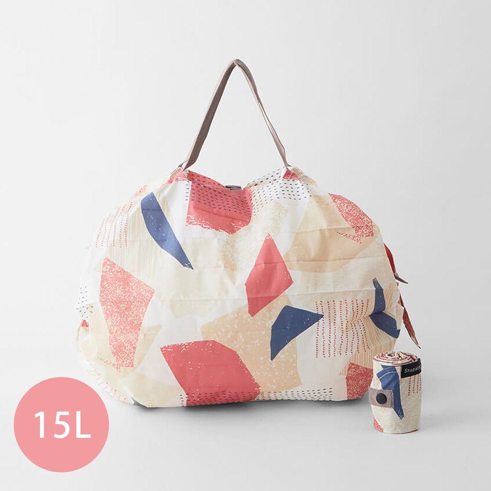 日本 MARNA - Shupatto 秒收摺疊購物袋-五週年限定升級款-浪漫幾何 (M(30x35cm))-耐重5kg / 15L