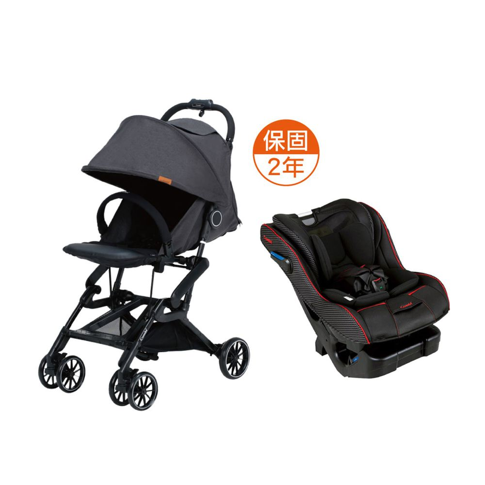 日本 Combi - 捷旅 CFS  嬰兒手推車-New Prim Long EG 羅馬黑-遼闊黑-1個月~36個月(體重15kg以下)