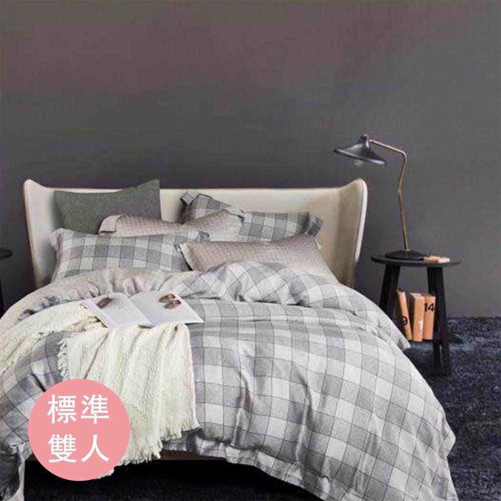飛航模飾 - 裸睡天絲加高版床包組-夜夢(雙人床包兩用被四件組) (標準雙人 5*6.2尺)