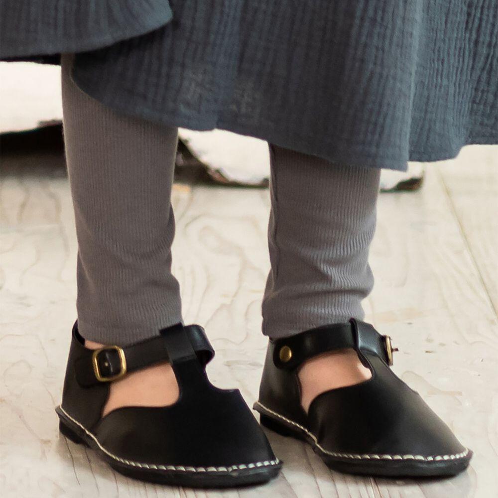 日本 riziere - 羅紋彈性修身內搭褲-氣質灰