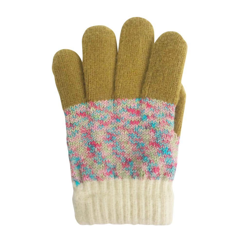 日本 BISQUE - 日本製質感小孩手套-彩色-粉色系 (5-10y)