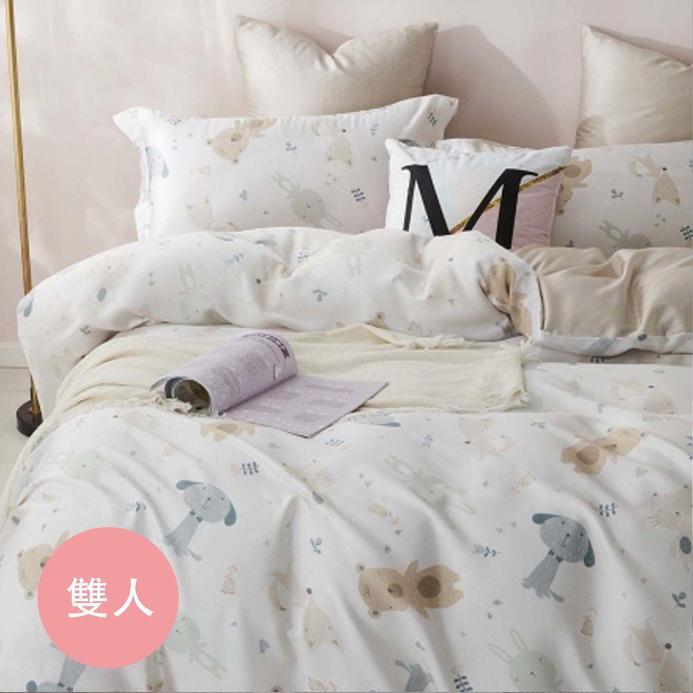 PureOne - 天絲系列.TENCEL寢具組-萌動小隊 (雙人四件式床包鋪棉被套組)