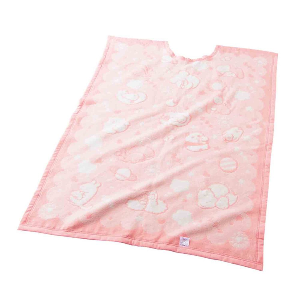 akachan honpo - U型挖口緹花棉毯-粉紅色