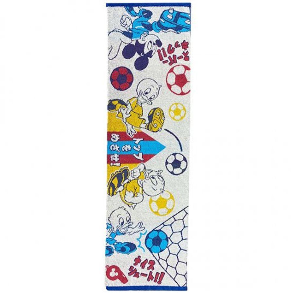 日本代購 - 卡通長型運動毛巾-米奇小鴨足球 (34x100cm)