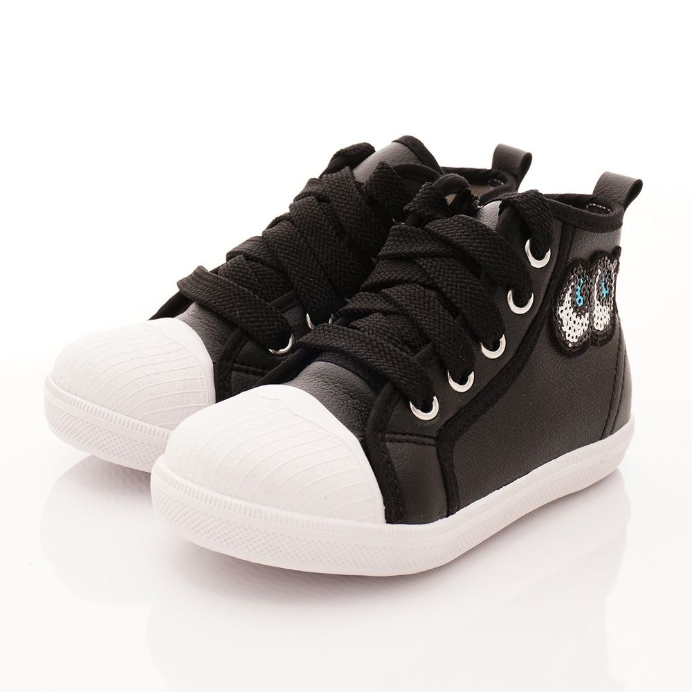 PV日式私藏 - 專櫃童鞋-大眼睛亮片貝殼鞋款(中小童段)-黑