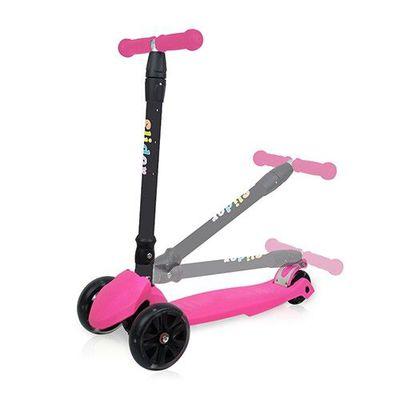 兒童三輪折疊滑板車XL1-螢光粉