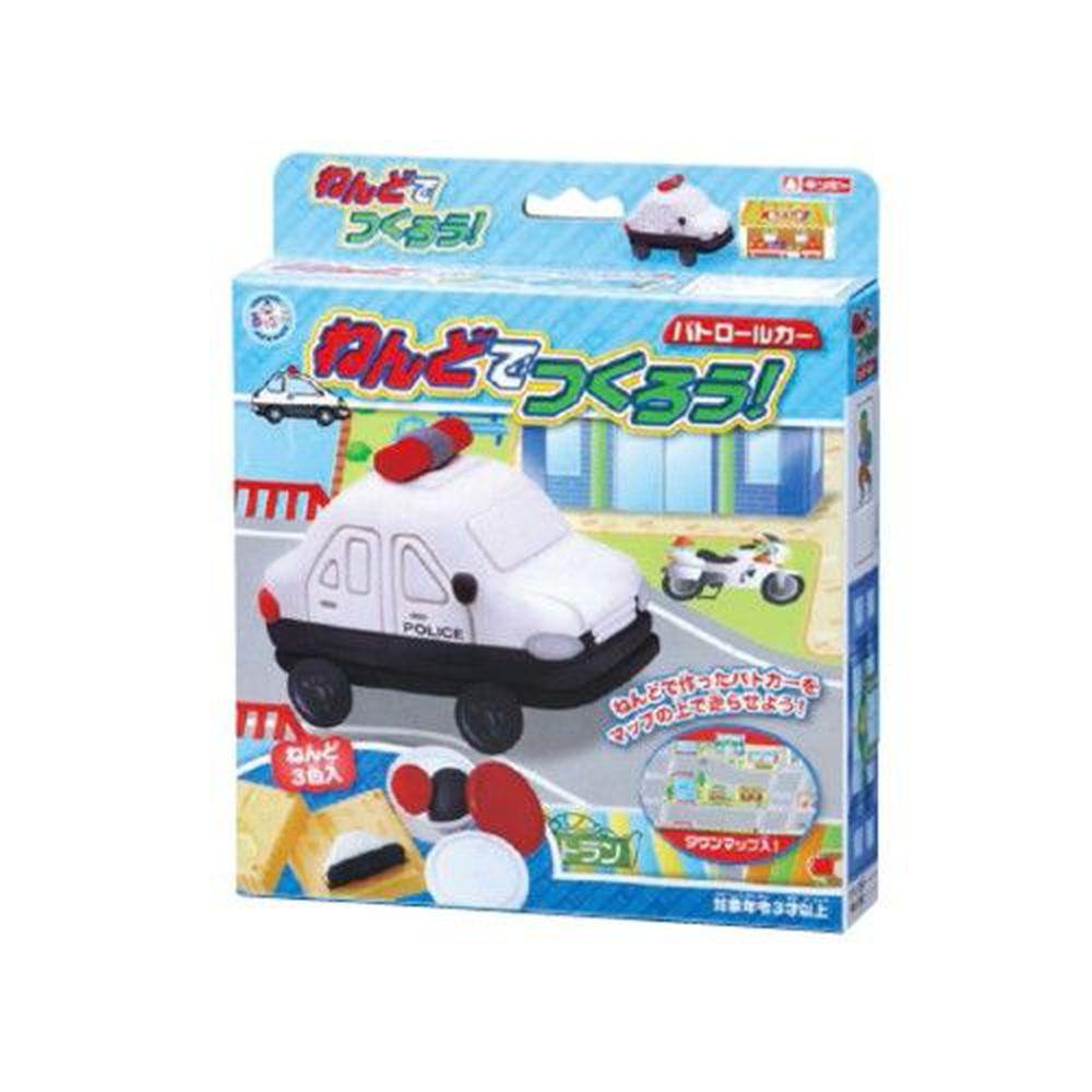 日本銀鳥 - 銀鳥無毒小麥黏土-警車3色組(附模具)