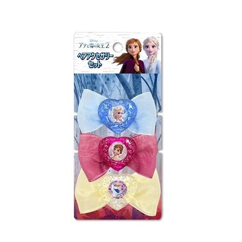 日本代購 - 冰雪奇緣2 蝴蝶結髮飾3入組-96