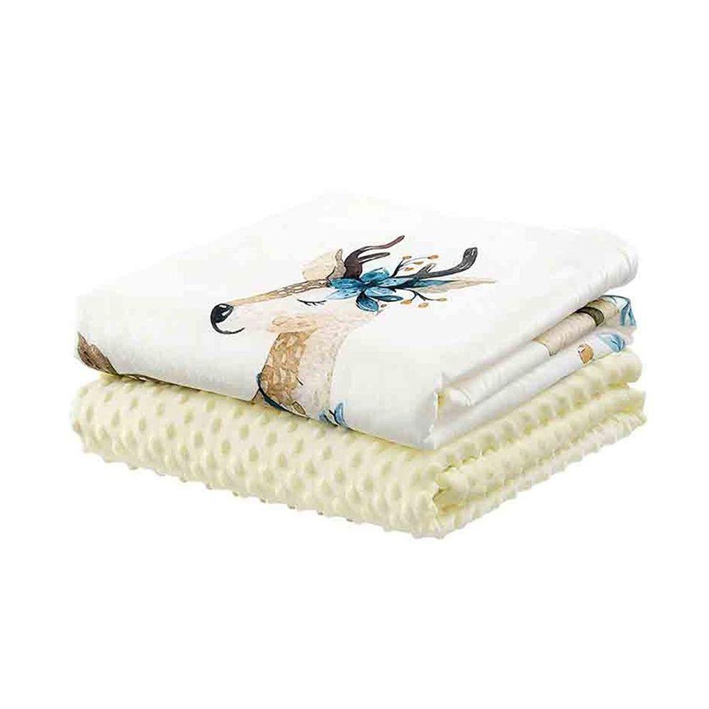柔仕 - 舒眠豆毯 厚款-優雅花鹿