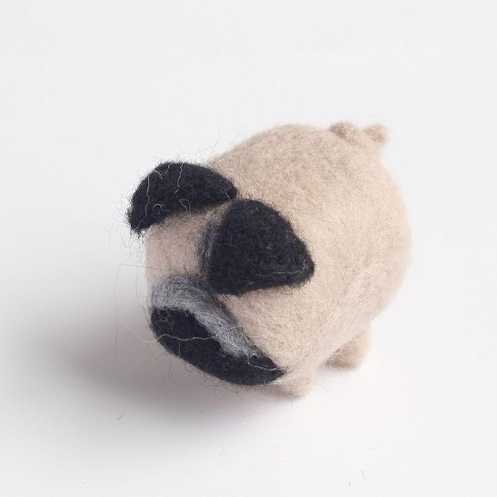 Diy寵物造型羊毛氈戳戳樂材料包-巴哥犬