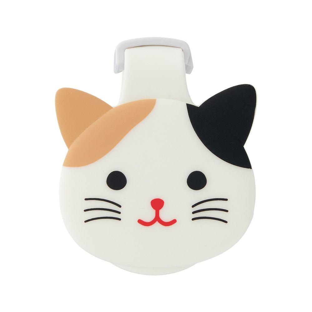 日本文具 LIHIT - 紙膠帶切割器(附磁鐵)-小花貓