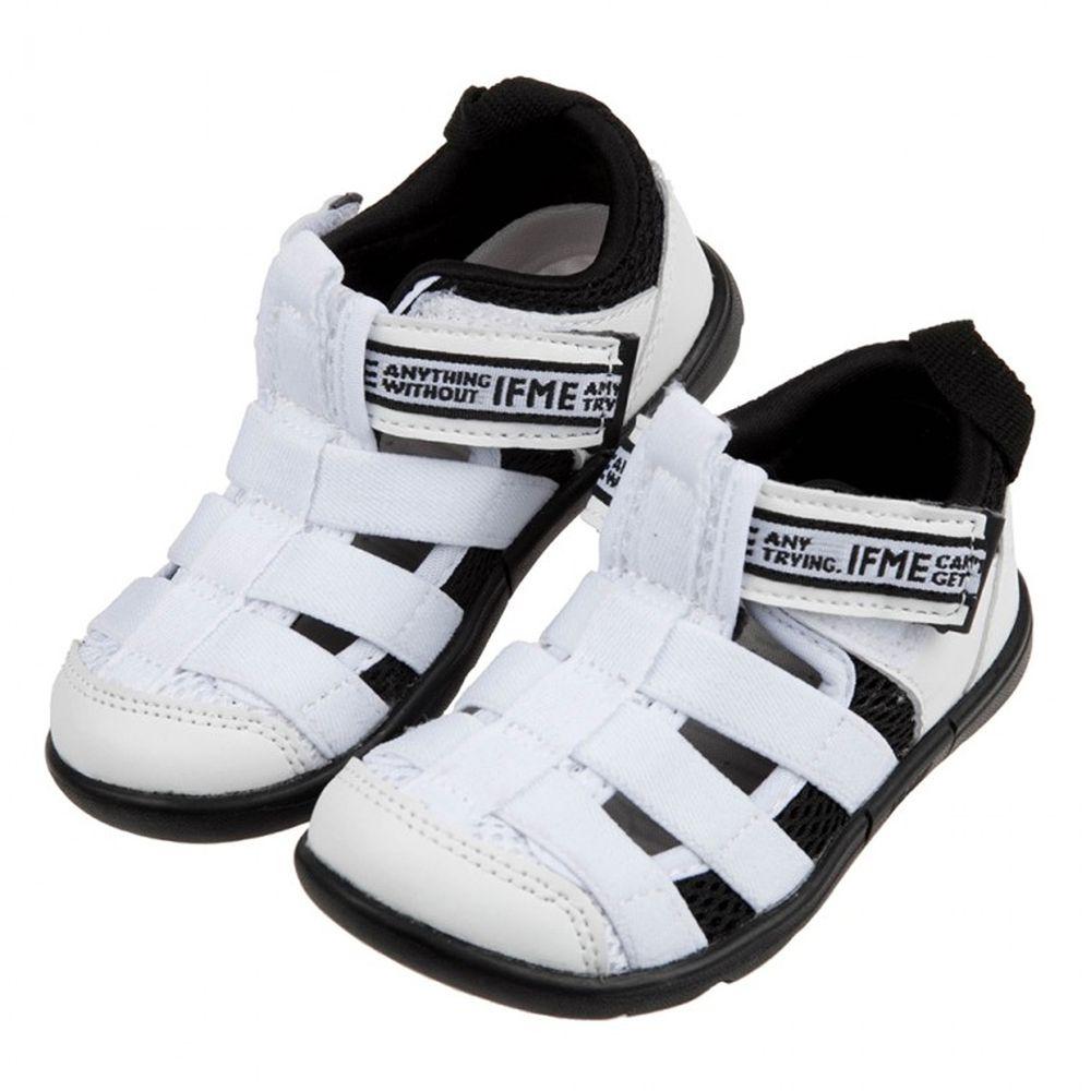 日本IFME - 白色和風兒童機能水涼鞋